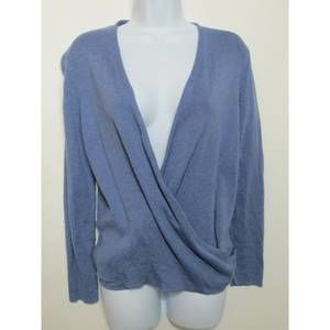 NIC + ZOE blue-violet open front and wrap sweater